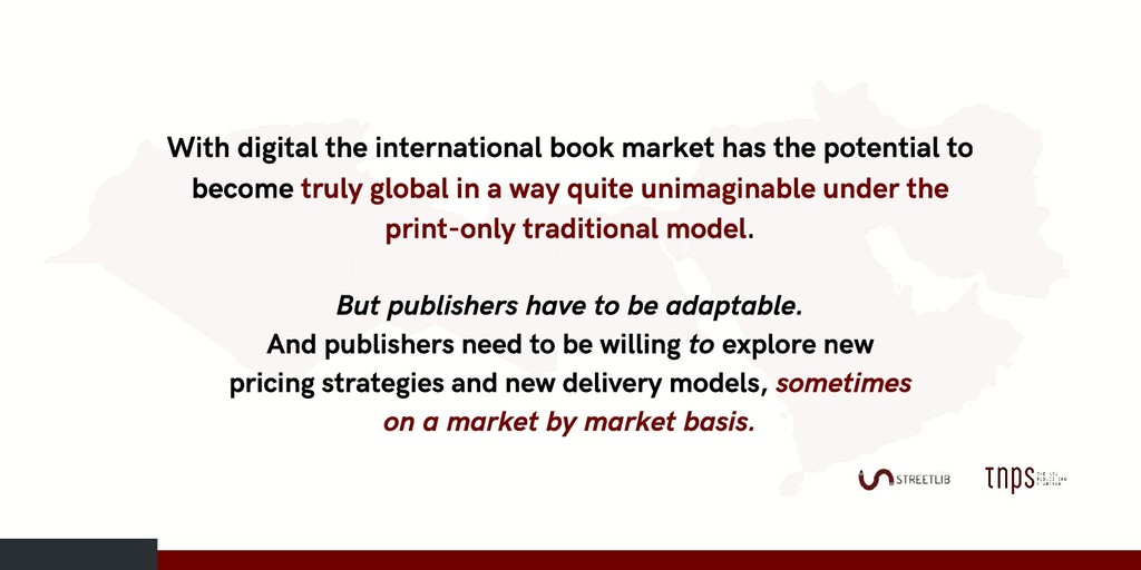 With digital the international book market has ...