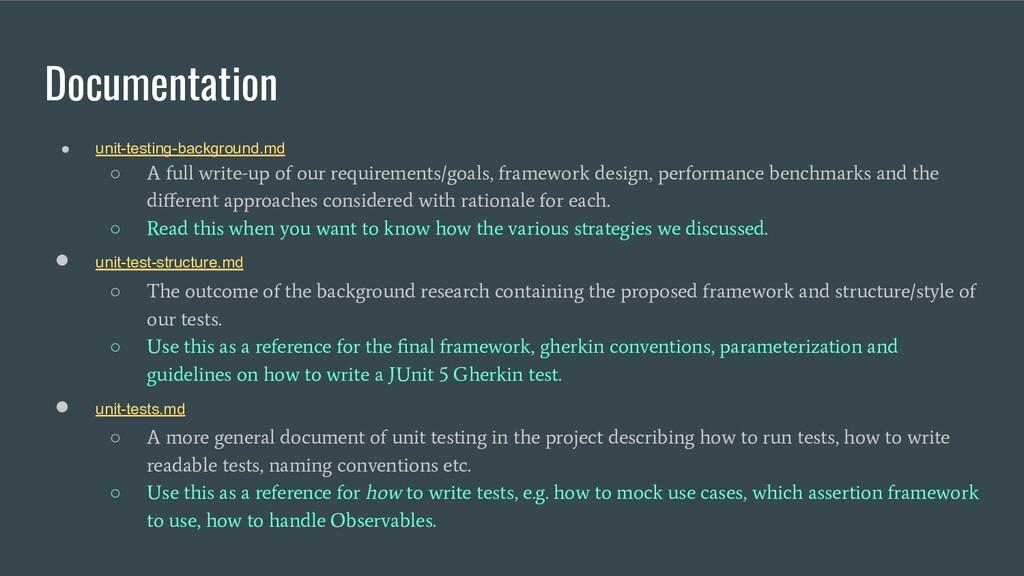 Documentation ● unit-testing-background.md ○ A ...