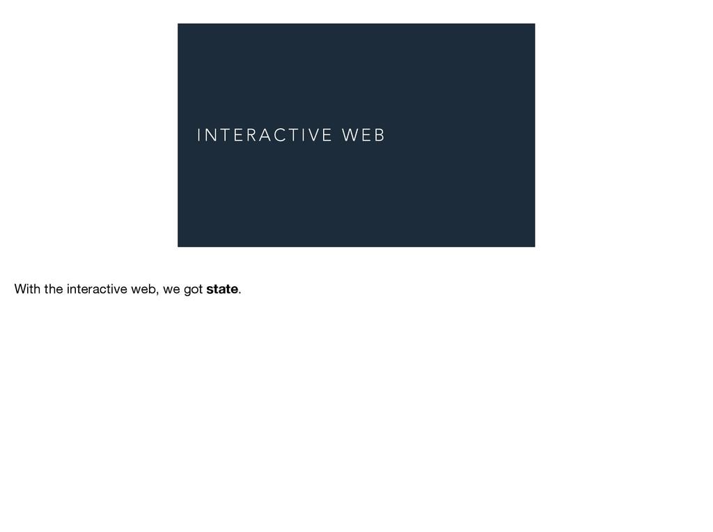 I N T E R A C T I V E W E B With the interactiv...