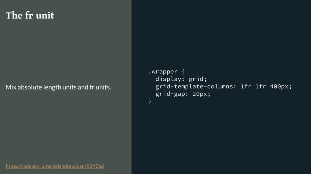 .wrapper { display: grid; grid-template-columns...