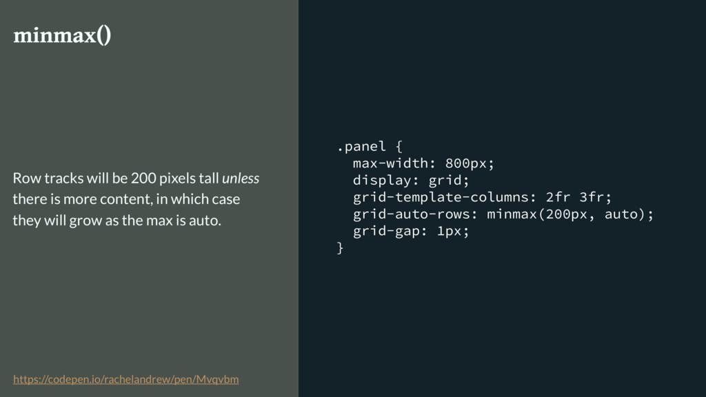 .panel { max-width: 800px; display: grid; grid-...