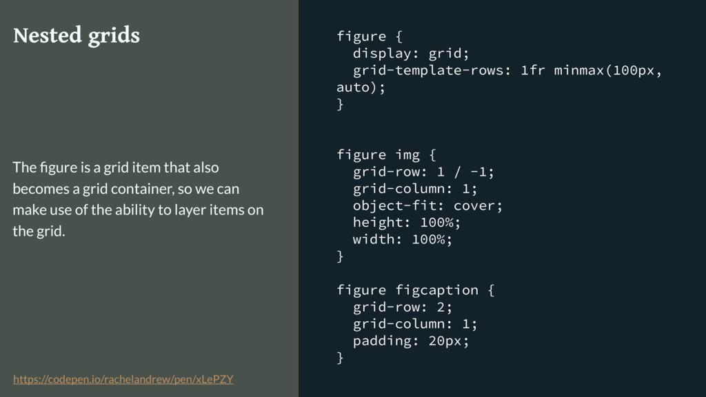 figure { display: grid; grid-template-rows: 1fr...