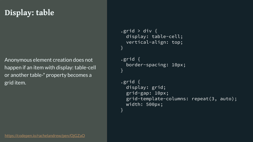 .grid > div { display: table-cell; vertical-ali...