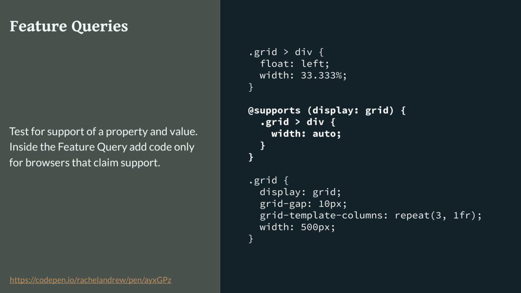 .grid > div { float: left; width: 33.333%; } @s...
