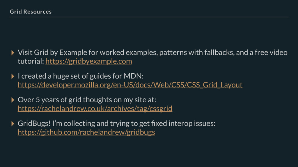 Grid Resources ▸ Visit Grid by Example for work...