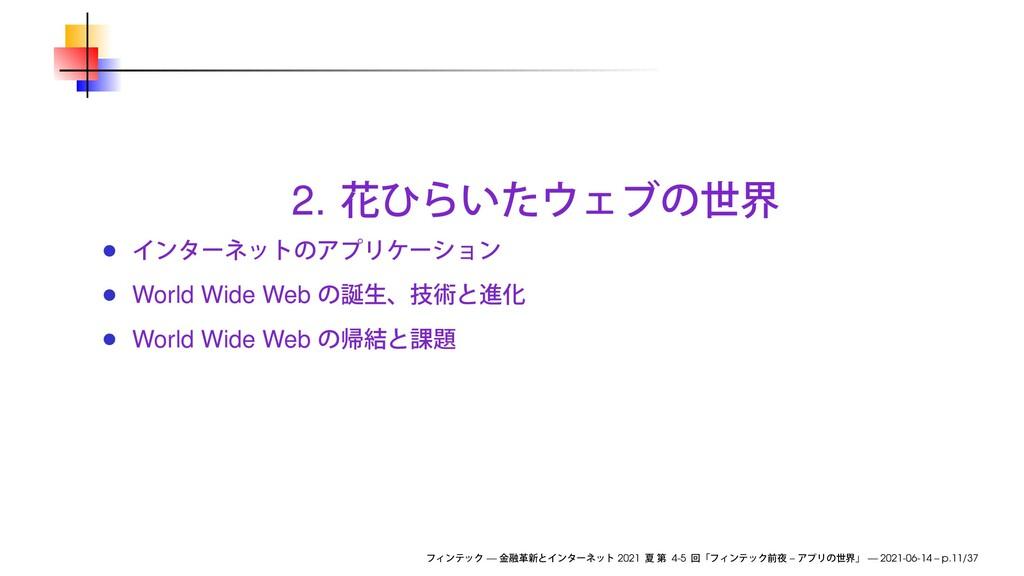 2. World Wide Web World Wide Web — 2021 4-5 – —...
