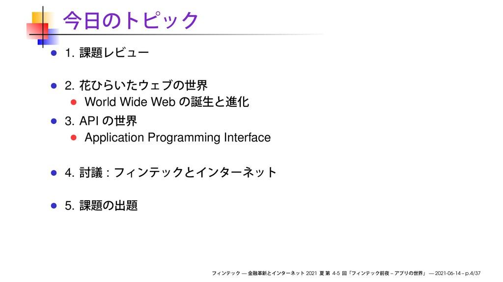 1. 2. World Wide Web 3. API Application Program...