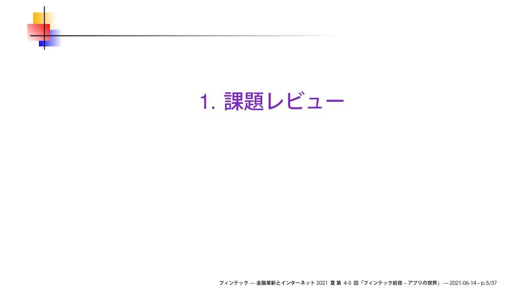 1. — 2021 4-5 – — 2021-06-14 – p.5/37