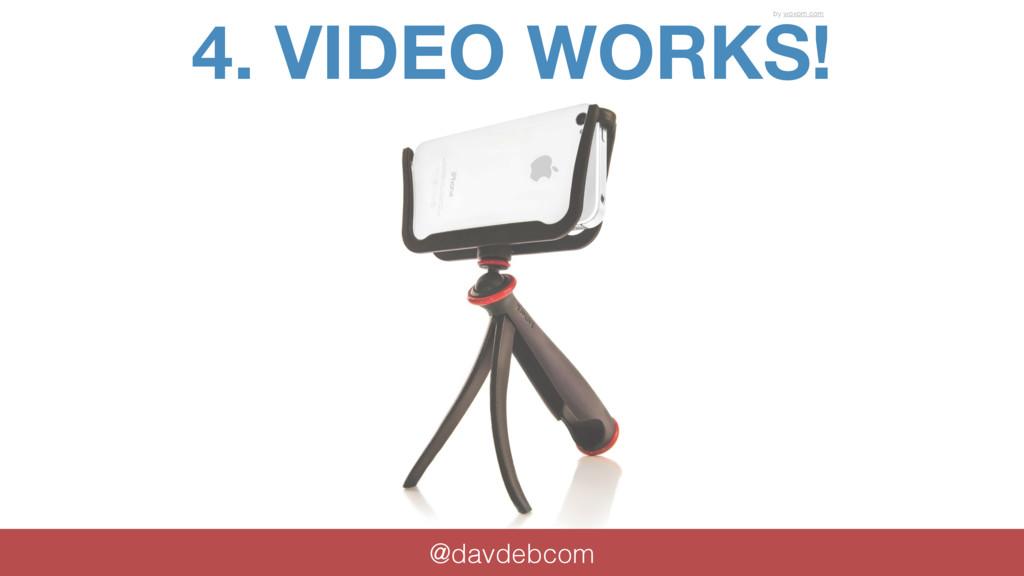 4. VIDEO WORKS! @davdebcom by woxom.com