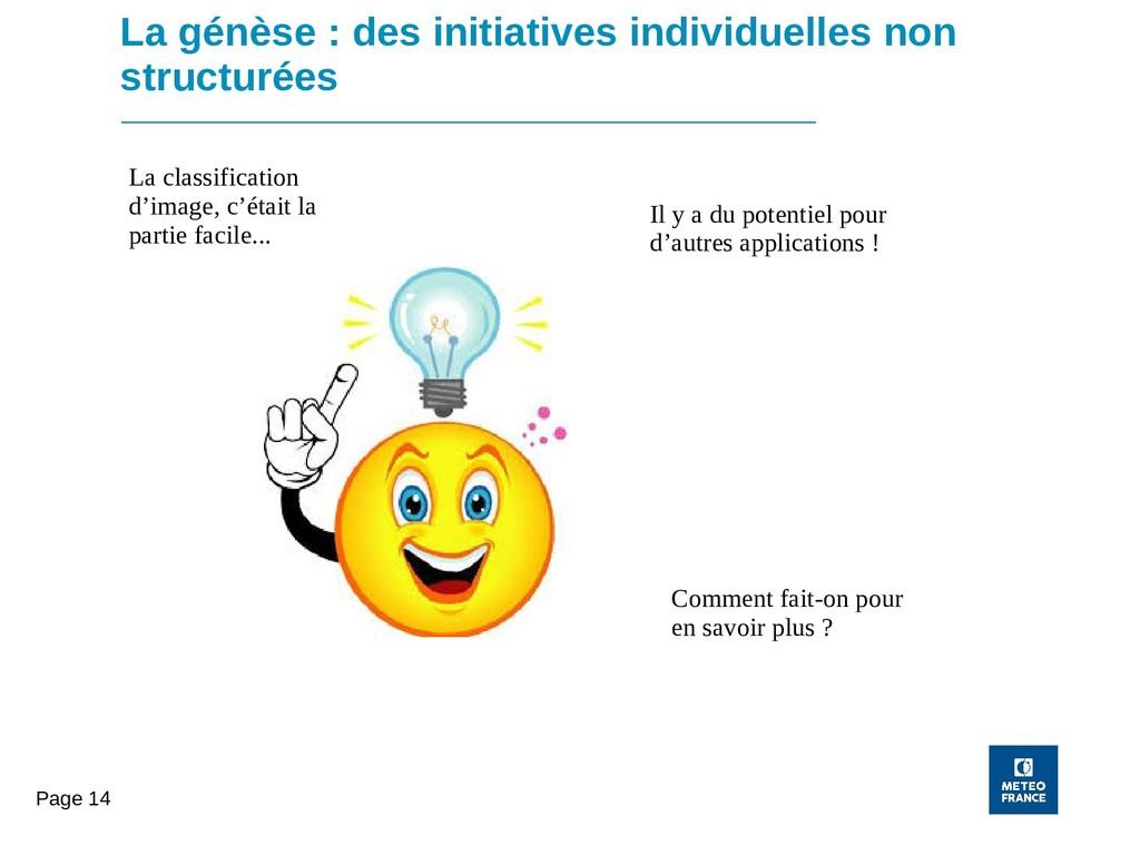 Page 14 La génèse : des initiatives individuell...