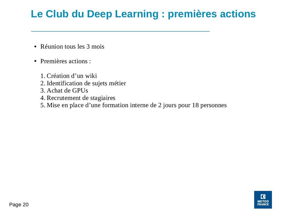 Page 20 Le Club du Deep Learning : premières ac...