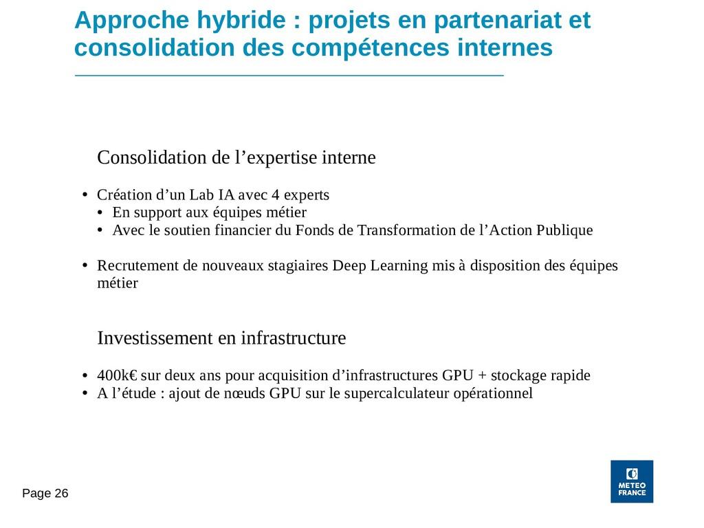 Page 26 Approche hybride : projets en partenari...