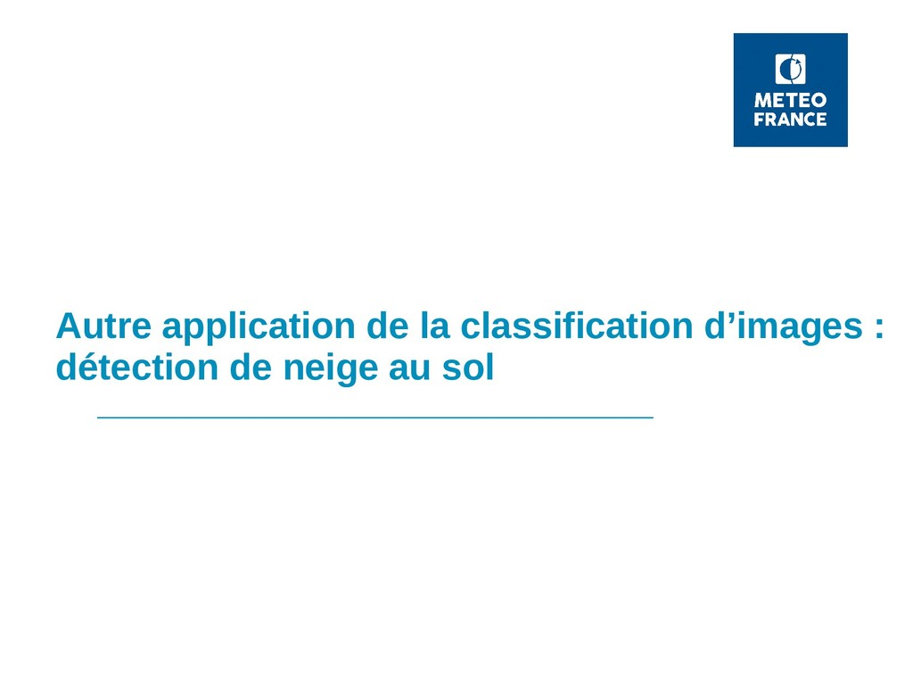 Autre application de la classification d'images...
