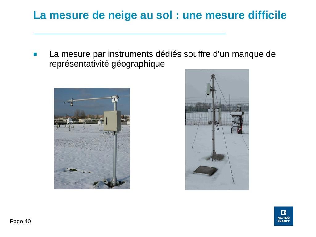 Page 40 La mesure de neige au sol : une mesure ...