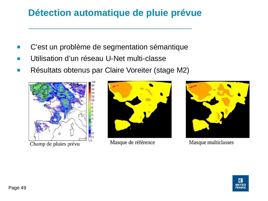 Page 49 Détection automatique de pluie prévue ■...
