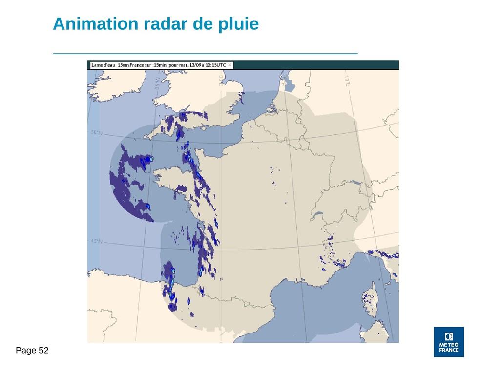 Page 52 Animation radar de pluie