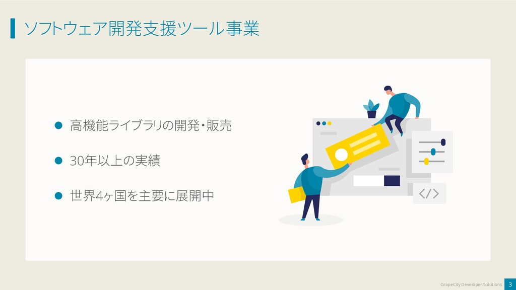 ソフトウェア開発支援ツール事業 3 GrapeCity Developer Solutions...