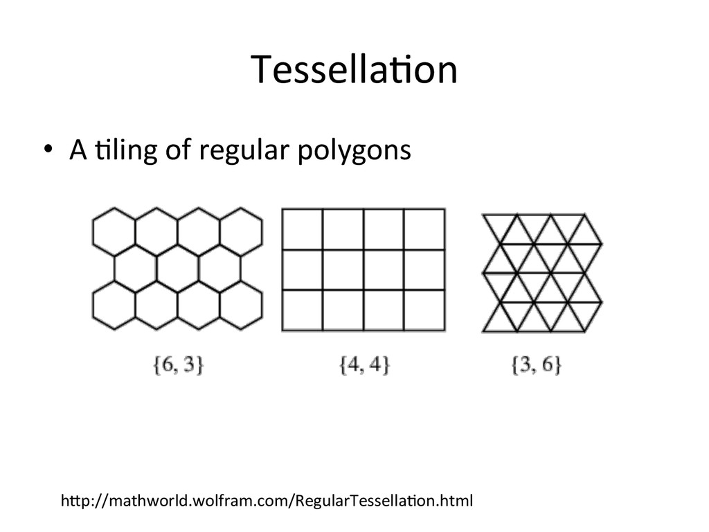 Tessella>on  • A >ling of regular...