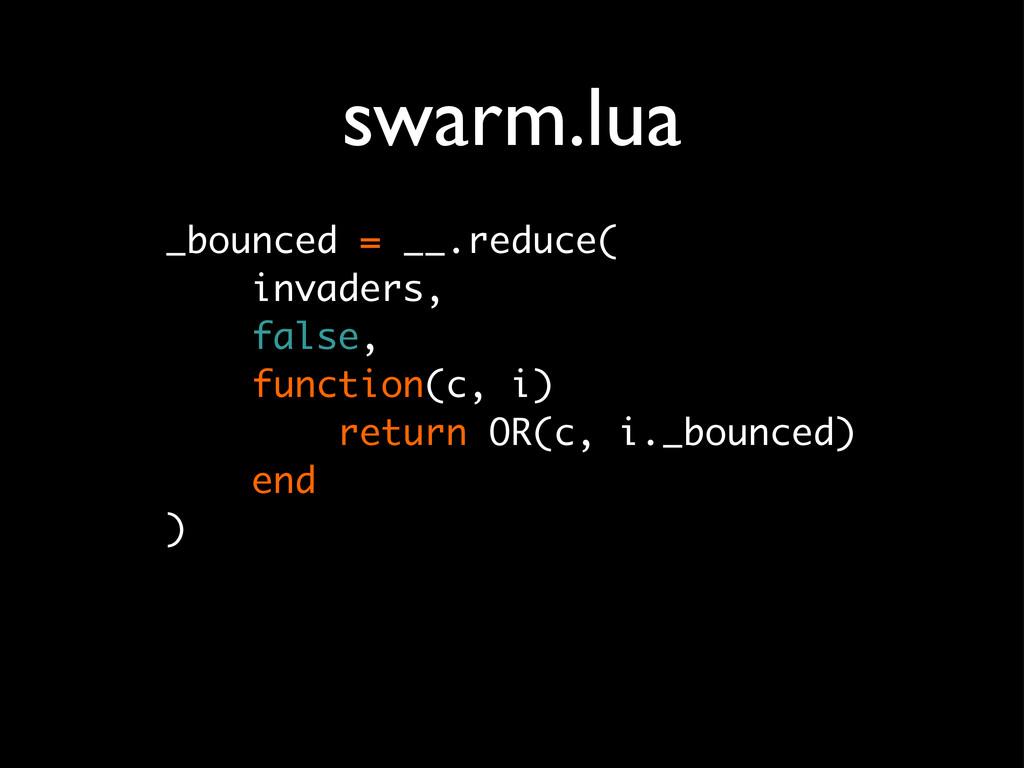 swarm.lua _bounced = __.reduce( invaders, false...