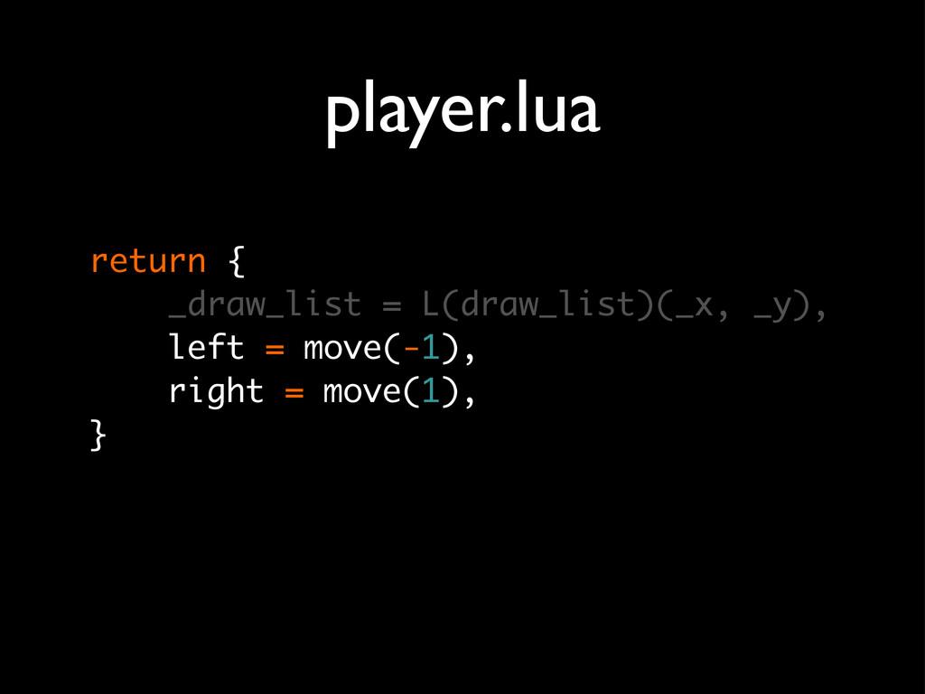 player.lua return { _draw_list = L(draw_list)(_...