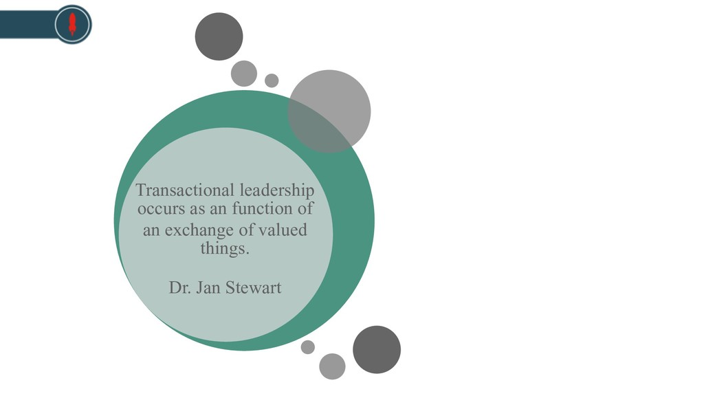 Transactional leadership occurs as an function ...