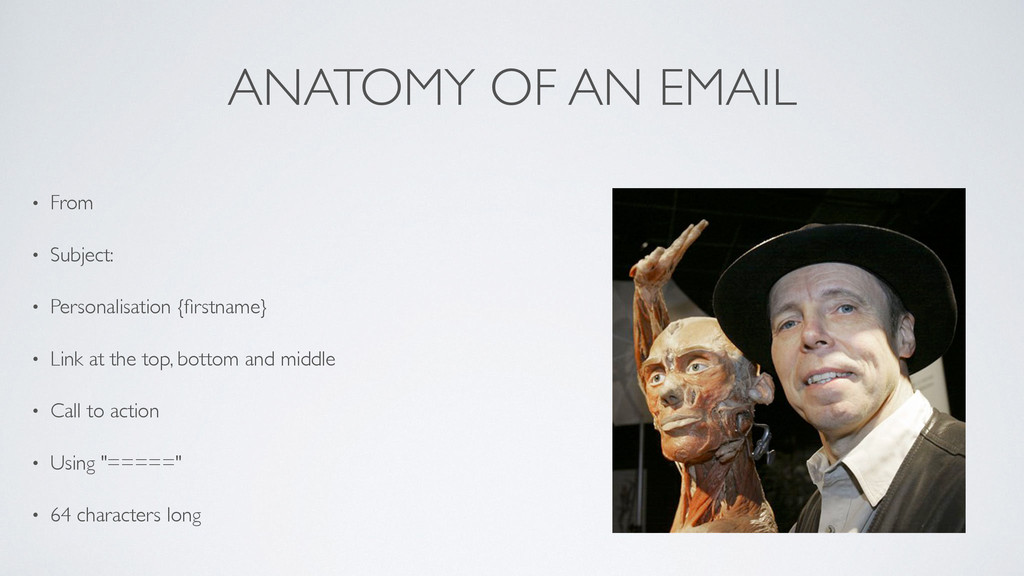ANATOMY OF AN EMAIL • From  • Subject:  • P...