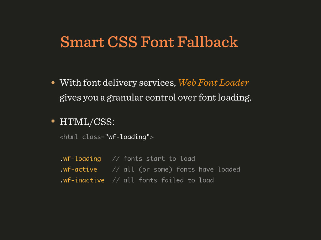 Smart CSS Font Fallback • With font delivery se...