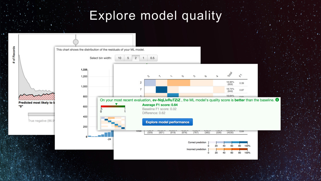 Explore model quality