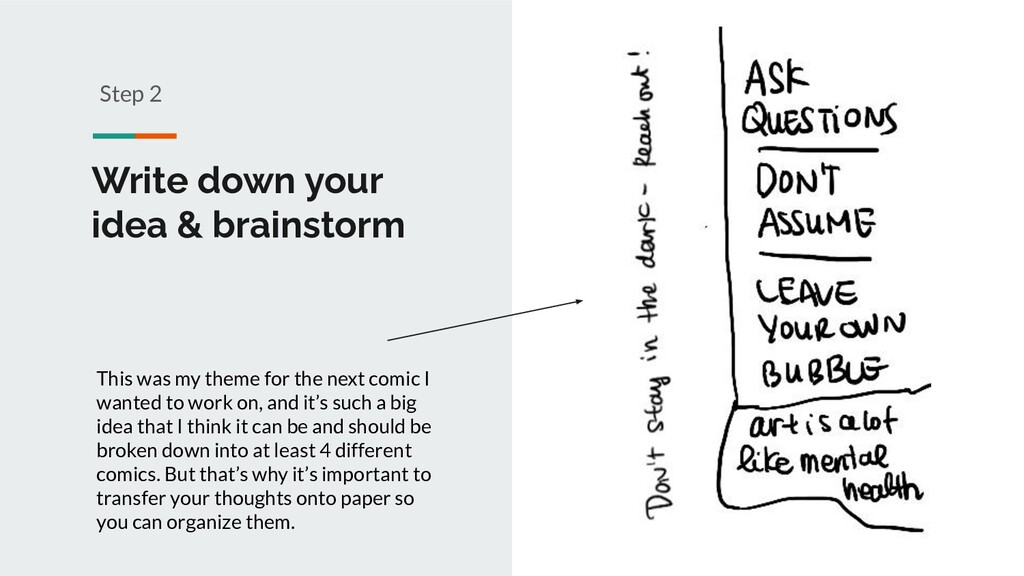 Write down your idea & brainstorm Step 2 This w...