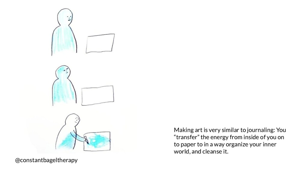 @constantbageltherapy Making art is very simila...