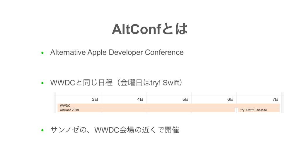 AltConfͱ ● Alternative Apple Developer Confere...