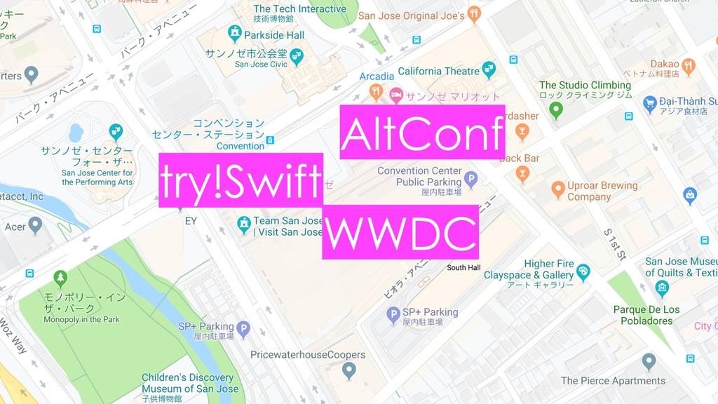 WWDC AltConf try!Swift