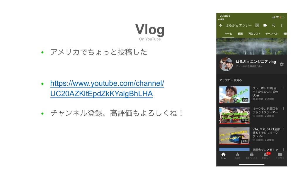 On YouTube Vlog ● ΞϝϦΧͰͪΐͬͱߘͨ͠ ● https://www.y...