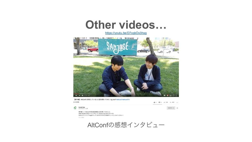 https://youtu.be/D7cqkOx3hsg Other videos… AltC...