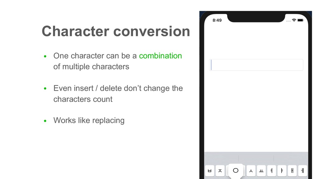 Character conversion ● One character can be a c...