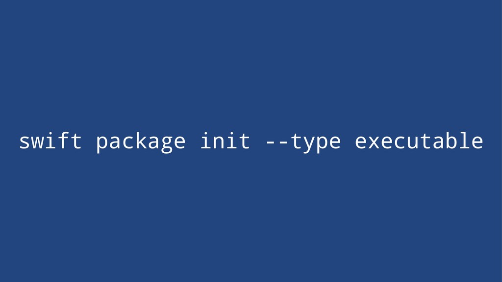 swift package init --type executable