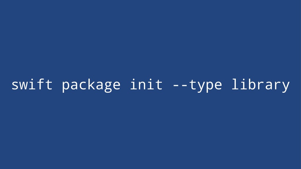 swift package init --type library