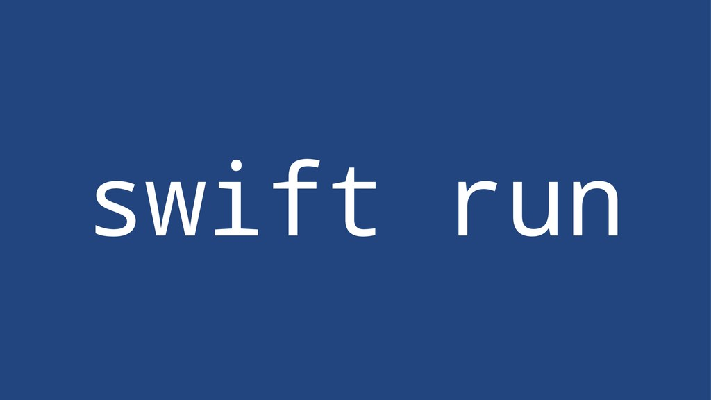 swift run