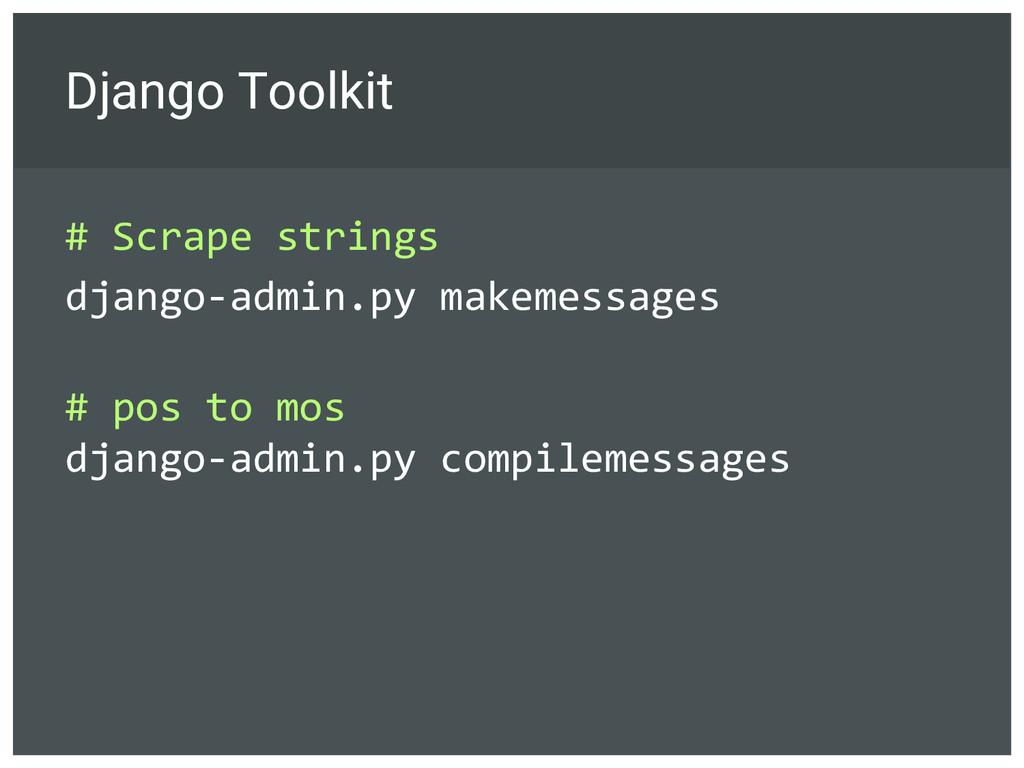 Django Toolkit # Scrape strings django-admin.py...