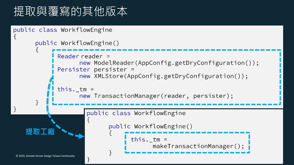 © 2020, Domain Driven Design Taiwan Community 提...