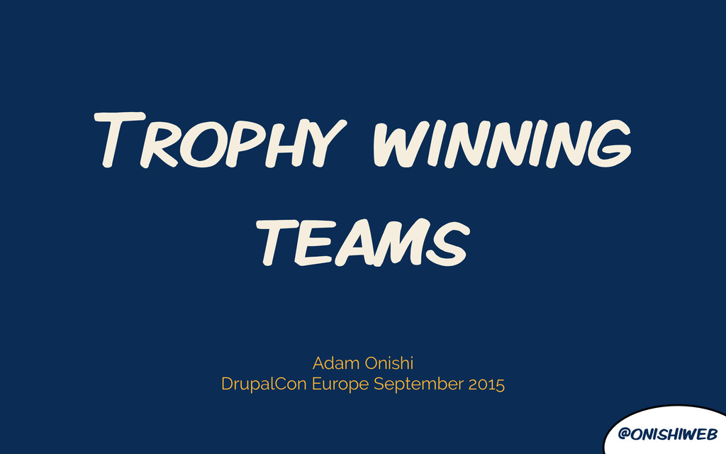 @onishiweb Trophy winning teams Adam Onishi Dru...