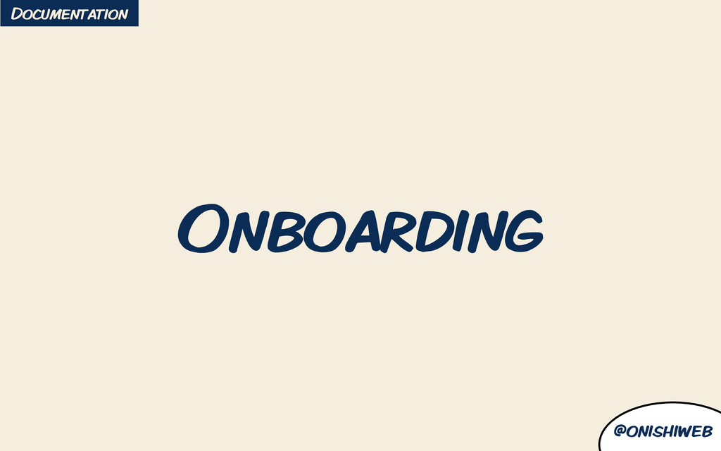 @onishiweb Onboarding Documentation