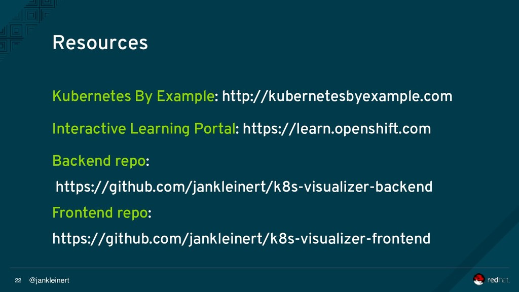 @jankleinert 22 Kubernetes By Example: http://k...