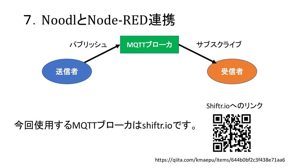 7.NoodlとNode-RED連携 https://qiita.com/kmaepu/ite...