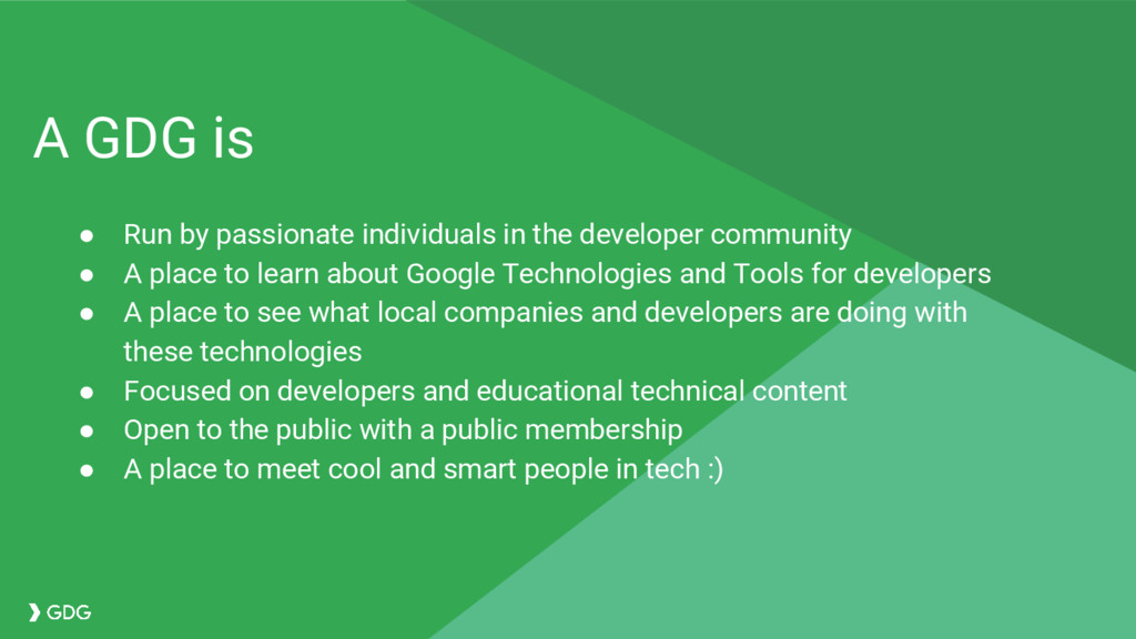 ● Run by passionate individuals in the develope...
