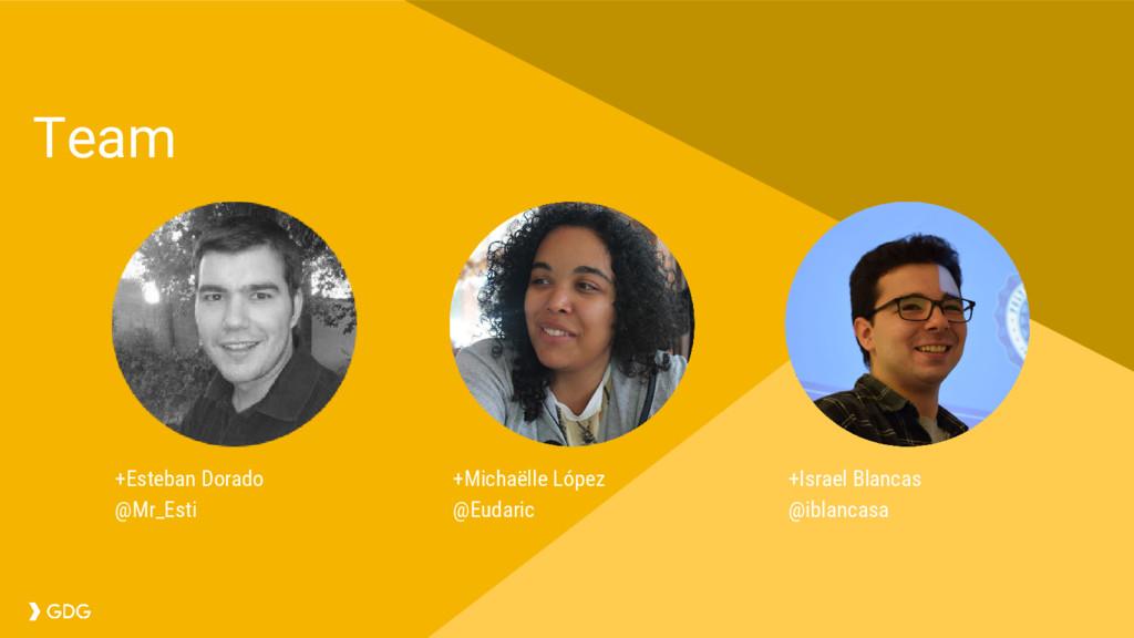 Team +Michaëlle López @Eudaric +Esteban Dorado ...