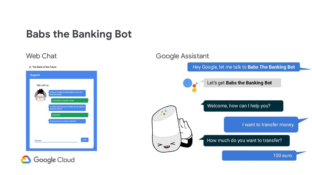 Babs the Banking Bot Web Chat Google Assistant ...