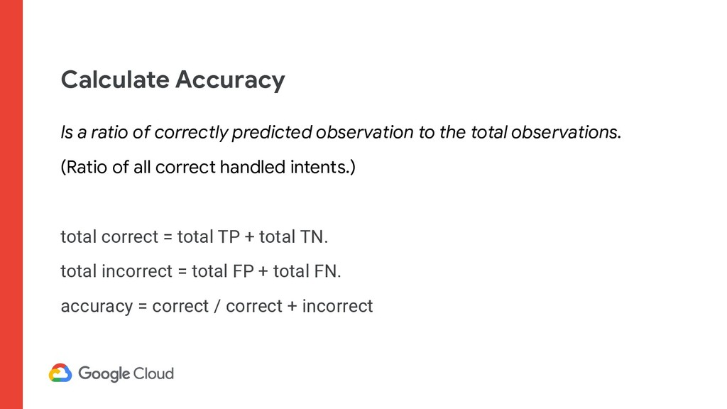 Calculate Accuracy Is a ratio of correctly pred...