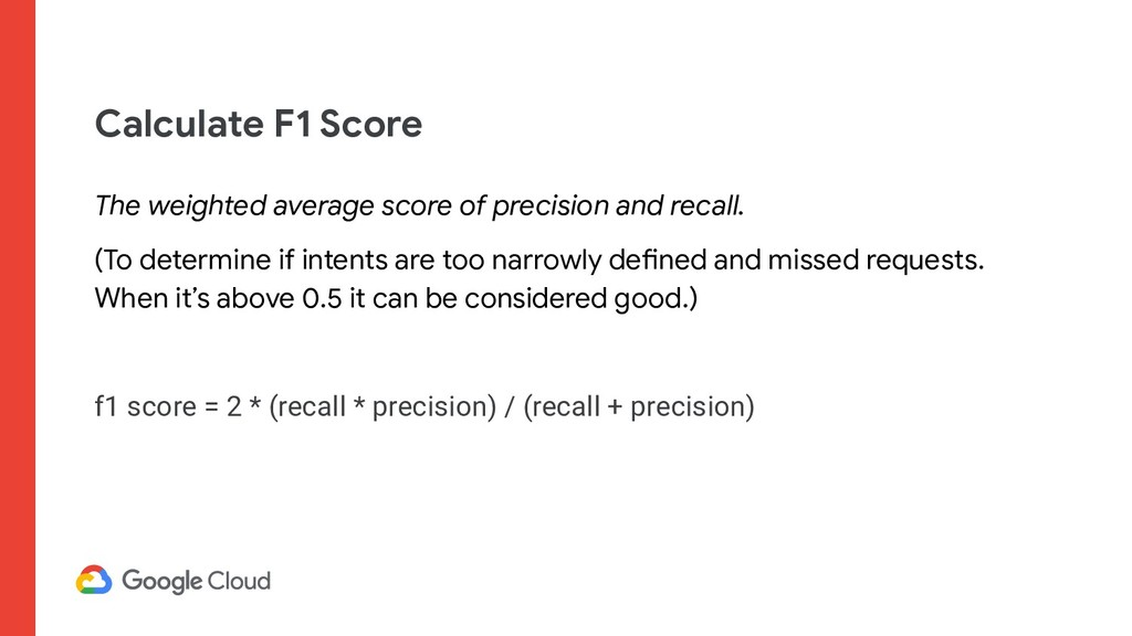 Calculate F1 Score The weighted average score o...