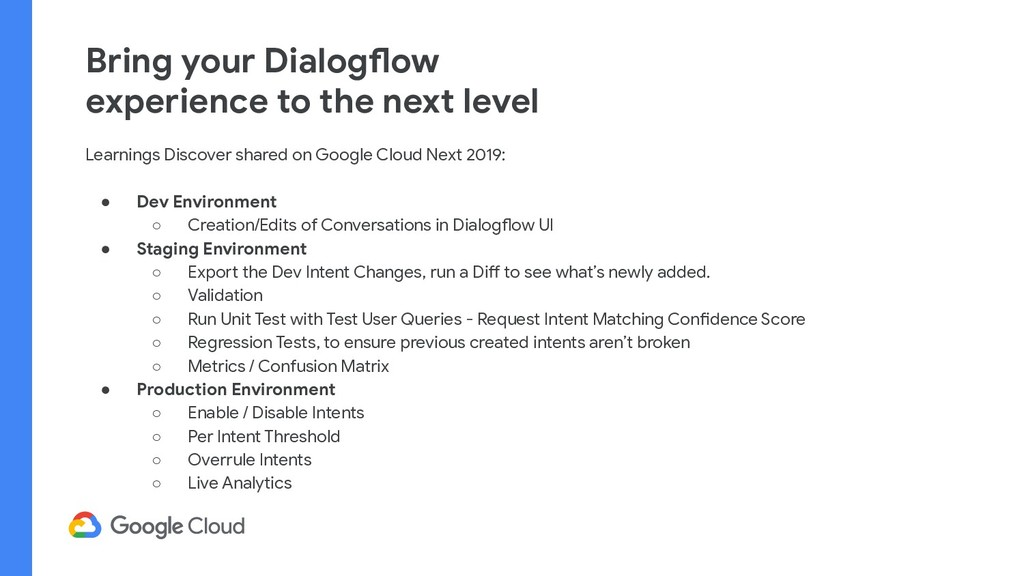 Bring your Dialogflow experience to the next le...